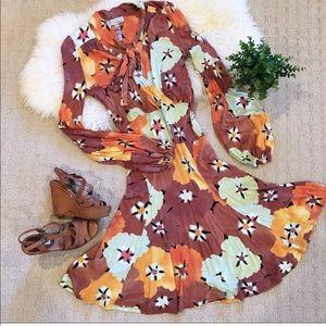 NEW Missoni floral print jersey midi dress 40/US 4